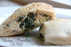 Dinner Tonight: Chicken Florentine Calzones