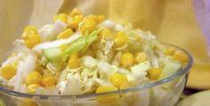 Ingredience 1 jablko1/3 plechovky kukuřice (scezené z nálevu)1/2 hlávky zelíCitrónovou Grains, Rice, Food, Lemon, Essen, Meals, Seeds, Yemek, Laughter