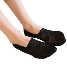 CHAMSGEND Good Deal New Fashion Women Spring Summer Cotton Lace Ankle Socks Soft Antiskid Invisible Liner Socks Gift 1 Pair