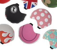 "EGG Helmets  ""The helmet can be endlessly personalized through Skins (printed elastane fabric helmet covers) and add-ons (soft rubber snap-on accessories). EGG helmets are not only fun but they also excel in safety as they comply with all safety standards for skiing, snowboarding, cycling and skateboarding """