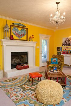 Big Happy Family living room by the Junk Gypsy Company