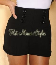 $36.99: Put a sophisticated spin on warm-weather dressing with these chic high waisted shorts.