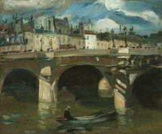 """The Seine,"" William Glackens, oil on canvas, 20 × Debra Force Fine Art. American Realism, Native American Art, Ashcan School, Henri Rousseau, Williams James, Post Impressionism, France, International Artist, Western Art"