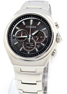 Citizen Mens Eco Drive Titanium Chronograph Watch In Stock Free Ne Citizen Eco, Citizen Watch, Vintage Watches For Men, Cool Watches, Wrist Watches, Casio Watch, Chronograph, Omega Watch, Stuff To Buy