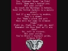 How could I not include this as a favorite tune?! ROLL TIDE ROLL!!!