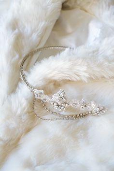 Items similar to EMPRESS Art Deco inspired bridal headpiece on Etsy Wedding Accessories, Wedding Jewelry, Hair Accessories, Headpiece Wedding, Bridal Headpieces, Wedding Garters, Bridal Tiara, Fascinators, Wedding Hair