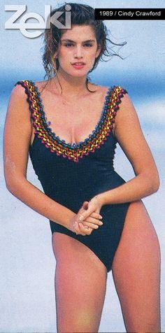 Cindy Crawford was the model of Zeki Triko in 1987.