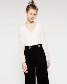 Image 5 of V-NECK TOP from Zara