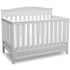 Delta Children Emery 4 in 1 Convertible Crib, Grey White Baby Cribs, Best Baby Cribs, Best Crib, Baby Beds, White Nursery Furniture, Gold Nursery, Wooden Furniture, Kids Furniture, Bedroom Furniture