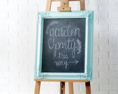 Chalk boards are such fun to make.  Here's a great one to make. The whole family can work on this project.