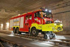 Infrabel heeft een nieuw reddingsvoertuig voor de tunnel naar Brussel airport.