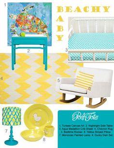 beachy baby-Turquoise & Yellow Nursery Inspiration