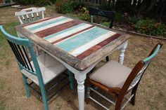 Striped French Farmhouse Table