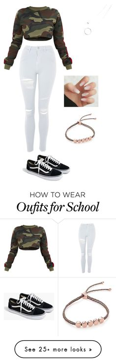 """""""outside school"""" by xokaiden on Polyvore featuring Topshop, J.Crew and Monica Vinader"""