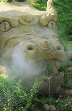 The Herbalists Garden - Dragon breathing smoke