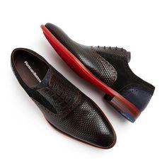 19045/05 - Floris van Bommel leather men's lace shoe dark brown