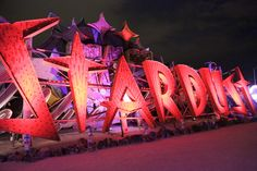 Visiting the Neon Museum in Las Vegas…