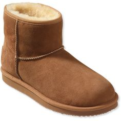 L.L.Bean Women's Wicked Good Shearling Boots, Low - Slipper Boot (£76) ❤ liked on Polyvore featuring shoes, patterned shoes, shearling shoes, print shoes and low shoes