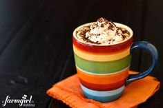 Pumpkin Spice Latte homemade recipe for 1 week of yummy drinks! - from a farmgirl's dabbles