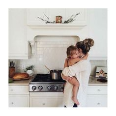 Multi-tasking mama. Who has a dinner cooking situation like this?? #everyday #motherhood pic via pinterest