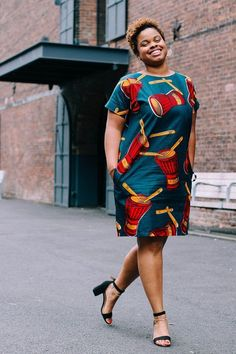My Red DRUM African print Shift dress. Here is a piece you can style up with some strappy heels or dress it down with some sneakers. Small : Length 37 Bust 18 Armhole 9 Medium: Length 37 Bust 21 Armhole 9 Large: Length 37 Bust 23 Armhole 9 X-Large: Length 37 Bust 25 Armhole 9