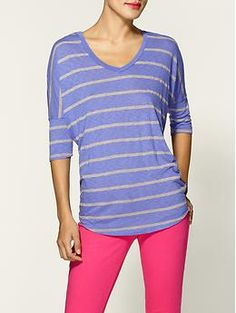 Not so sure about the hot pink pants but I like the top