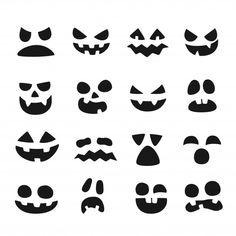 Halloween Items, Halloween Face, Creepy Cute, Scary, Pumpkin Faces, Superhero Logos, Banners, Shapes, Horror