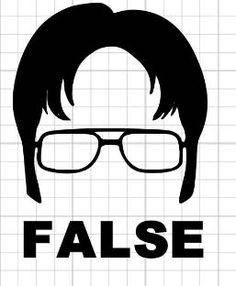Dwight Schrute False Decal The Office Sticker