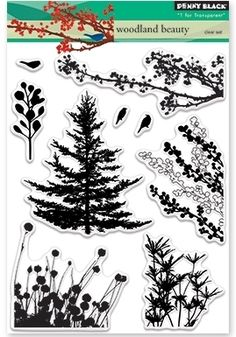 Penny Black Clear Stamps WOODLAND BEAUTY...on order from amazon...21.00 cdn...these will look good on fairy designs