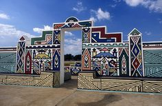 Southern Transvaal Ndebele house painting - centered around Bronkhorstspruit, South Africa.