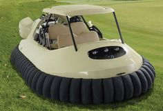 Yes, it is a veritable golf cart hovercraft. Created by Hammacher Schlemmer in collaboration with professional golfer Bubba Watson, the Golf Cart Hovercraft hits top speeds of 45 mph (. Segway Tour, Royce, Golf Mk4, Hammacher Schlemmer, Cool Technology, Technology Gadgets, Tech Gadgets, Digital Technology, Cool Inventions