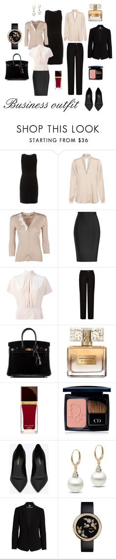 """business outfit II."" by marcela-plocher on Polyvore featuring ELLIOTT LAUREN, A.L.C., Fendi, Roland Mouret, RED Valentino, Acne Studios, Hermès, Givenchy, Tom Ford and Christian Dior"