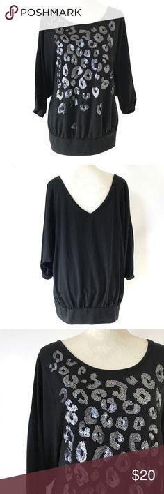 Torrid size 2 leopard print top Sinched hemline! Beautiful shirt! torrid Tops Tees - Short Sleeve