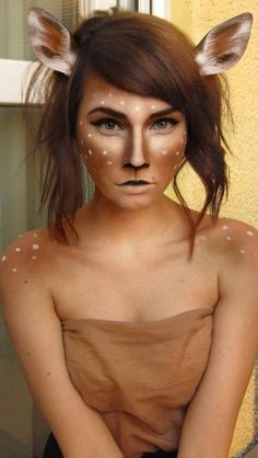 16 Deer Makeup And Antler Ideas For The Cutest Halloween Costume Costume Halloween, Deer Costume, Halloween Inspo, Cute Costumes, Halloween Make Up, Fairy Costumes, Costume Ideas, Halloween 2019, Deer Makeup