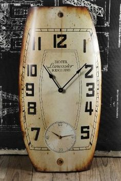 Large Vintage Metal Wall Clock 28in