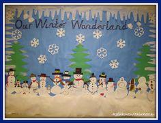 "photo of: ""Our Winter Wonderland"" Bulletin Board via Winter RoundUP at RainbowsWithinReach"