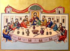 Last Supper by Mykola Rybenchuk of Lviv, Ukraine Jesus Painting, Old And New Testament, Early Christian, Last Supper, Old Paintings, Orthodox Icons, Pictures To Draw, Jesus Christ, Art Drawings
