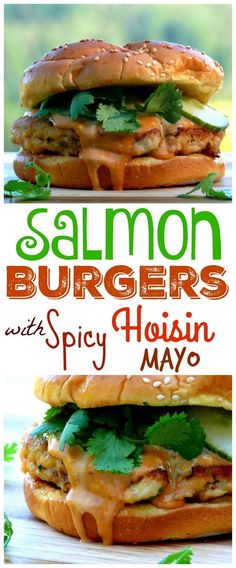 VIDEO + Recipe for Salmon Burgers with Spicy Hoisin Mayo from NoblePig.com.