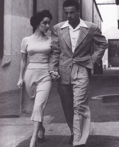 Elizabeth Taylor and Montgomery Clift.