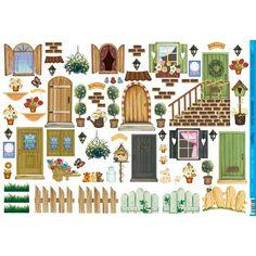garrafas decoradas com decoupage de casas - Pesquisa Google
