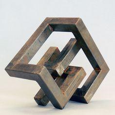 Ueli Gantner I undefined Metal Art Sculpture, Steel Sculpture, Contemporary Sculpture, Abstract Sculpture, Contemporary Art, Abstract Geometric Art, Cube Design, Steel Art, Welding Art