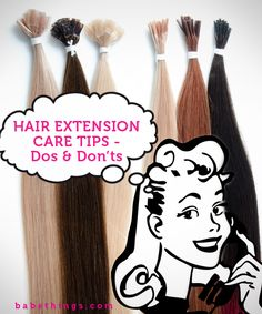Important Hair Extension Care Tips that you need to know (Can't believe I'm considering extensions. But I just want Disney princess hair! Human Hair Extensions, Fusion Hair Extensions, Beauty Tutorials, Beauty Hacks, Beauty Tips, Hair Tutorials, Beauty Ideas, Love Hair, Hair And Beauty