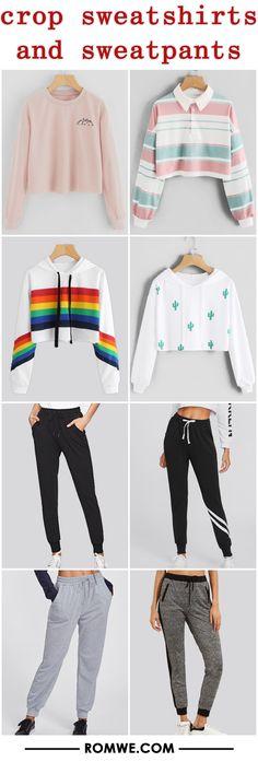 crop sweatshirts and sweatpants - romwe.com http://feedproxy.google.com/fashionshoes11