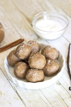 Snickerdoodle Cookie Dough Bites - Natural Sweet Recipes