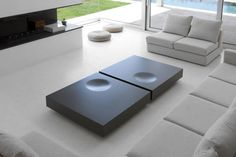 Low lacquered MDF coffee table PLAT by Kendo Mobiliario