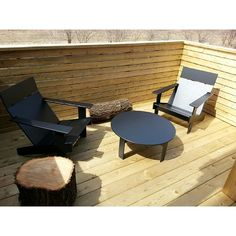Back Deck With Modern Outdoor Furniture From Loll Designsu0027 Lollygagger  Collection. All Pieces Are