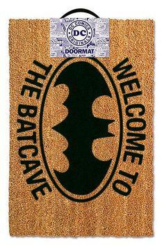 Felpudo Batman, Welcome to the Batcave. 40x60cm  Estupendo felpudo con el logo del héroe Batman.
