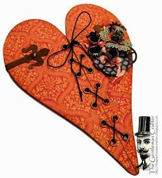 Love the corset! The Gentleman Crafter: Valentine's: Corseted Card