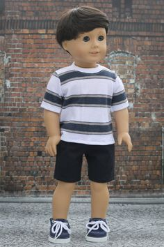 Ag Dolls, Girl Dolls, Toddler Outfits, Boy Outfits, American Boy Doll, Boy Doll Clothes, Clothing Tags, Boy Pictures, Boy Shorts