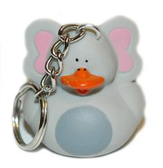 ADORABLE ELEPHANT RUBBER DUCK KEY CHAIN (KC056)